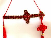 Abundance & Protection Coin Sword Chinese Coins Feng Shui Chinese Knot Hanging