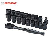 Crescent X6 Pass-Thru 20 Piezas Enchufe & Conjunto de Llave Trinquete Métrico /