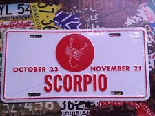 Scorpio Star Sign Booster American Licence Plate