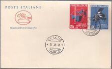 ITALIA BUSTA PREMIO ITALIA  POSTE CAVALLINO F.D.C. 1958 ANNULLO VERONA FDC