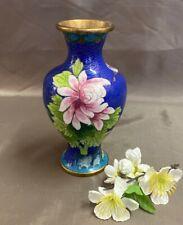 Jingfa Chinesische Cloisonne Vase. Emailltechnik, Messing ca 15,5 cm #2285