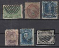 AN5410/ NEWFOUNDLAND – 1868 / 1882 USED CLASSIC LOT – CV 380 $