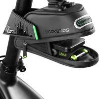 RockBros Cycling Bicycle Waterproof Bike Rear Seatpost Saddle Bag Black Large