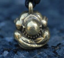 Yogi pendant weeping Buddha necklace on cord budha buddhism Gold finish