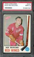 1969 O-PEE-CHEE #157 ALEX DELVECCHIO PSA 9 RED WINGS (MIS-LABELED 1970) *DS7214