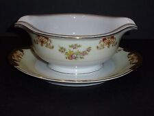 Vintage Meito China, Gravy Boat w/Attached Underplate, FREE SHIPPING,CH10101