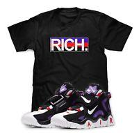 RICH T-Shirt To Match Nike Air Barrage Hyper Grape Sneakers S-3XL