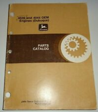 John Deere 4039 4045 Engine (Dubuque) Parts Catalog Manual Book Original! 4/93
