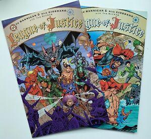 1996 LEAGUE OF JUSTICE #1 #2 Complete Set DC Comics Lot Run Elseworlds