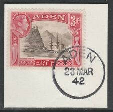 Aden 5287 - 1939 KG6 3a on piece with MADAME JOSEPH FORGED POSTMARK
