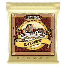 Ernie Ball Earthwood Bronze LightAcoustic Guitar Strings - Gauge 11-52