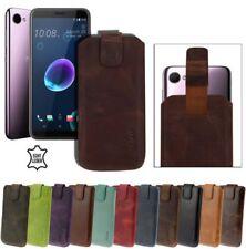 Exclusivo Auténtico Caso Bolsa de Cuero Funda Móvil para HTC Desire 12