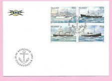 ICELAND 1995  FDC - MAIL SHIPS  (SG 844/7)  Fdi REYKJAVIK