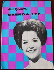 BRENDA LEE 1962 UK TOUR PROGRAMME OUTLAWS TONY SHERIDAN MIKE BERRY BACHELORS