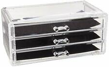 3 Drawers Clear Detachable Makeup Organizer Cosmetic Storage Lipsticks Box