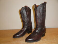 Men's Dark Cognac Leather TONY LAMA 2829 Western Cowboy Riding Boots Sz-9EE Wide