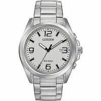 Citizen AW1430-86A Men's Eco Drive Stainless Steel 3-Hand Analog Sport Watch