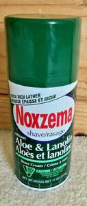 NOXZEMA SHAVE SHAVING CREAM w/ ALOE & LANOLIN 11Oz  DISCONTINUED WillCombineShip