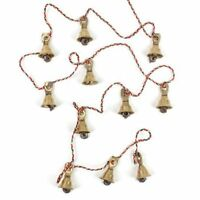 Brass Decorative String of 11 Bells Vintage Indian Style for Wall Decor B-1