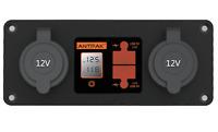 12V DC Power Panel Dual Battery Voltmeter 2X USB & 2X Ciga