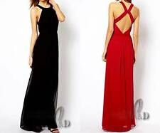 Polyester Formal Solid Maxi Dresses for Women
