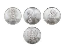 Russia, 25 rubles, 2018, 3 coins Set, FIFA World Cup 2018, Talisman, UNC, New