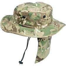 British Military MTP camo Tropical bush hat with sun neck protector (M) Boonie