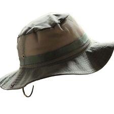 Wide Brim Mens Unisex Bucket Hat Army Green Fishing Beach Festival Mesh Sun Cap