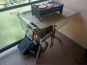 WANZL Einkaufswagen als Grilltisch Gestell für  Garten Balkon Terrasse Ablage