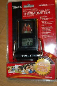 TIMEX ELECTRONIC  DIGITAL PHOTO FRAME WITH ALARM CLOCK THERMOMETER & CALENDAR