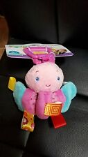 """Taggies Soothe 'n Shake Plush Butterfly Toy New Super Cute 5"""""""