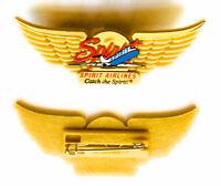 Spirit Airlines Aviation Plastic Junior Pilot Kiddie Wings Badge Pin