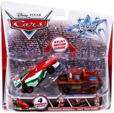 Stunt Racers Francesco Bernoulli & Race Team Mater Plastic Car 2-Pack