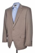 SAMUELSOHN Brown Solid 100% CASHMERE Mens Blazer Sport Coat Jacket - 44 R