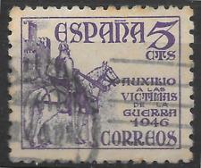 Sello Antiguo De España emitida 1946 para ayudar a las víctimas Guerra-SEE SCAN