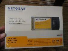 Netgear Laptop  54 MBPS Wireless  PC Card - WG511 V2  5 X 802.11G (NEW SEALED)