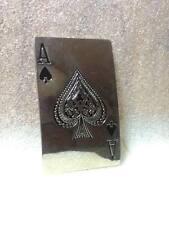 Ace of spades belt large mens buckle