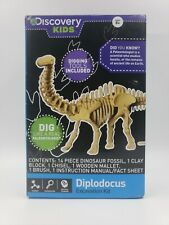 2 Discovery Kids Dinosaur Excavation Kit Diplodocus, Triceratops ages 8+