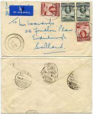GOLD COAST BIBIANI DUNKWA AIRMAIL IMPERIAL to SCOTLAND 1938 KG6 2 x 1d + 2 x 2d