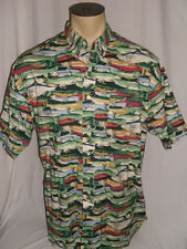 Men's Britches Great Outdoors Button-up Shirt Trout Fishing Camping Hiking Sz XL