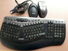 Microsoft Wireless Natural Multimedia-Tastatur Drahtlose Maus Und Empfänger