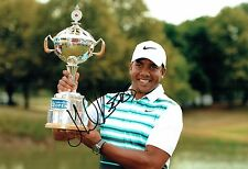 Jhonattan VEGAS SIGNED 12x8 Golf Photo 1 AFTAL Autograph COA PGA Tour Winner