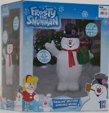 Christmas Gemmy Frosty the Snowman 3.5 ft Lighted Snowman Airblown Inflatable