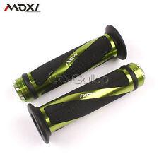 """Green Bike Handle Bar Hand Grips 7/8"""" For Kawasaki Ninja ZXR ZX 6R 636 7R 9R"""