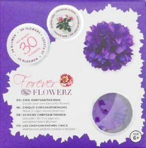 Craft Buddy Forever Flowerz Kit Chic Chrysanthemum - purple Makes 30 flowers NEW