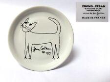 """Vintage 1959 JEAN COCTEAU Cat 5 1/4 """"promo ceram français plaque Editions d'Art"""