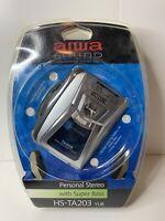Aiwa Ta203 Cassette Am/fm Personal Stereo With Super Bass Hs-ta203 Yub Read Disc