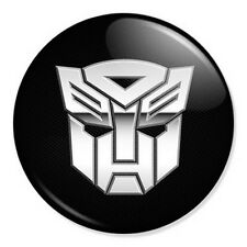 "Transformers Logo 25mm 1"" Pin Badge Button Retro Cartoon Artwork Optimus Prime"
