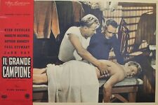 """""""LE CHAMPION (CHAMPION)"""" Affiche italienne originale entoilée 1949  Kirk DOUGLAS"""