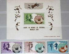 Niger 1974 419-21 blocco 10 c228-c231 Soccer World Cup Munich CALCIO WM MNH